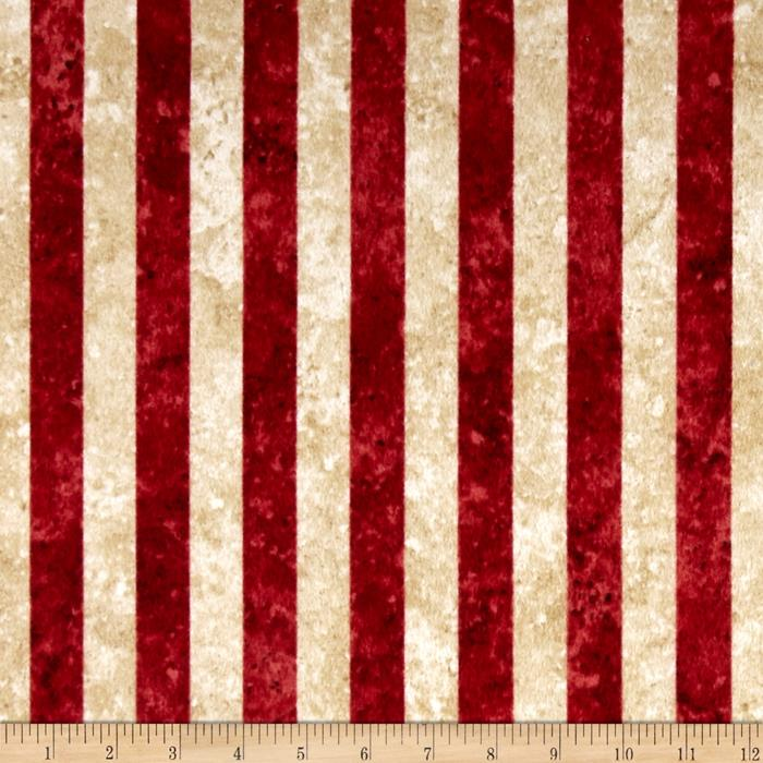 Stars & Stripes Flannel Stripes Red Fabric By The Yard