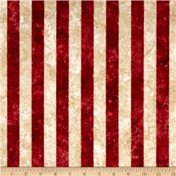 Stars & Stripes Flannel Stripes Red/Tan