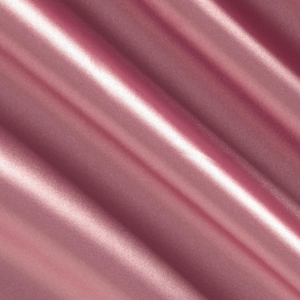 Stretch Charmeuse Satin Mauve Fabric By The Yard