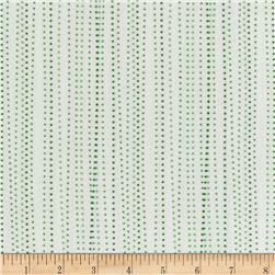 Moda Red Dot Green Dash Brushed Cottons Sleet Winterwhite/Green
