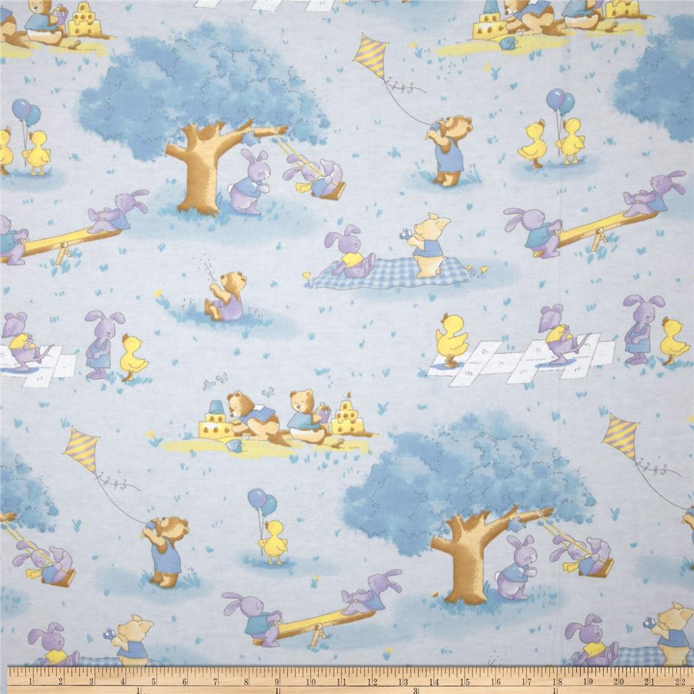 Play Day Flannel Park Blue