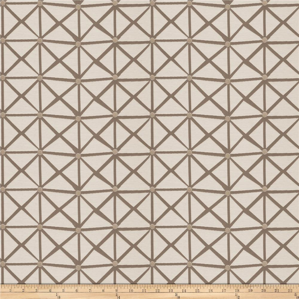 Fabricut Rohu Lattice Jacquard Grey