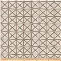 Fabricut Rohu Lattice Faux Silk Grey