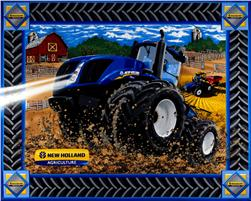 New Holland Tractor Panel Blue Fabric