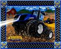 "New Holland Tractor Quilt Panel 36"" Panel"