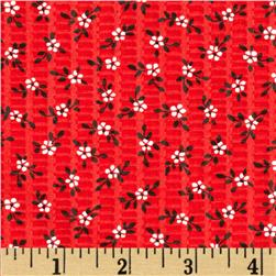 Tutti Frutti Plisse Flowers Red