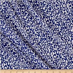 Chffon Royal Blue Cheetah Print