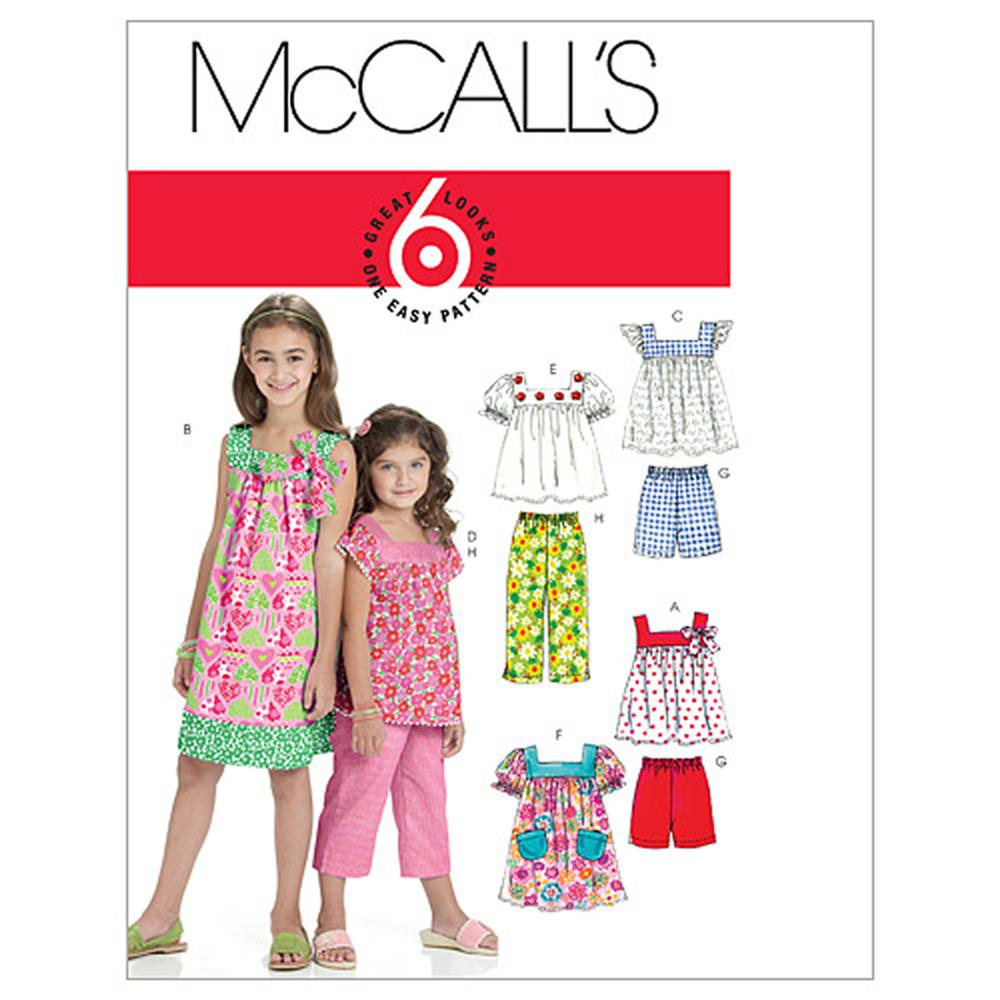 Mccall 39 s misses 39 dress in 2 lengths pattern m6102 size 0b0 for Childrens dress fabric