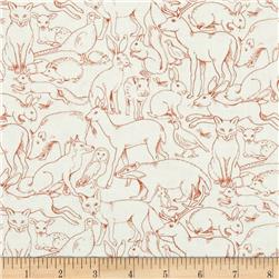 Sherwood Outline Animals Rust/White