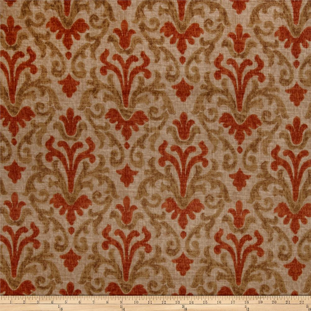 Jaclyn Smith 02098 Linen Blend Terra Cotta