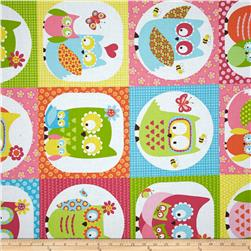 Whoo Loves You Patchwork Multi