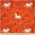 Heather Ross Far Far Away Unicorn Orange