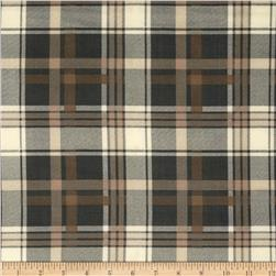 Techno Scuba Knit Plaid Black/Taupe