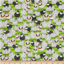 Knit Happy Packed Sheep Green