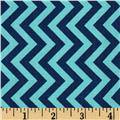 Michael Miller Retro Tire Treads Chevron Navy