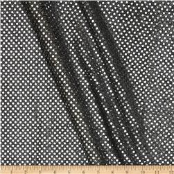 Sequin Dot Mesh Black/Silver Fabric