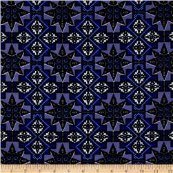 Urban Chic Geo Tribal ITY Knit Royal/Navy/White