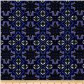 Urban Chic Geo Tribal Stretch ITY Knit Royal/Navy/White