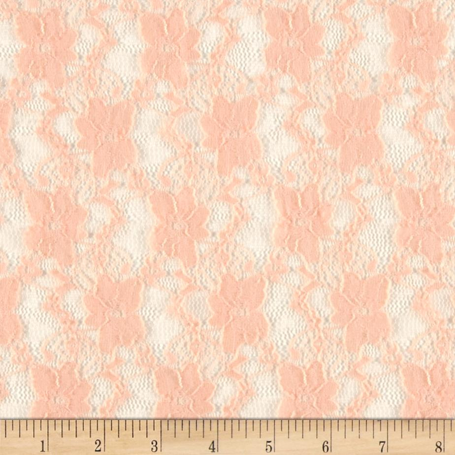 Stretch Lace Little Flowers Peach