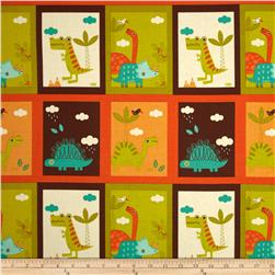 Riley Blake Dinosaur Patch Cream Fabric