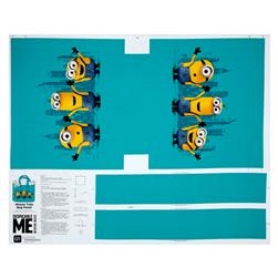 "Millions Of Minions Minion Tote Bag 35.5"" Panel Aqua"