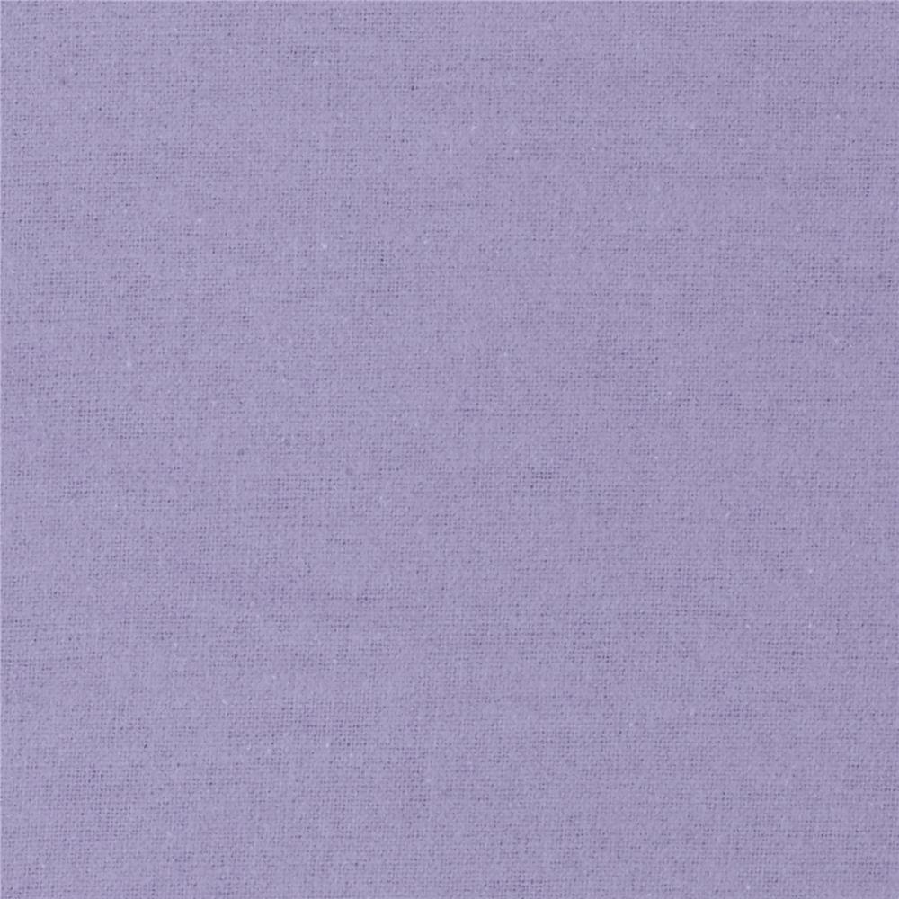 Alpine Flannel Solid Lilac Fabric By The Yard