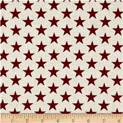 Oh My Stars Weathered Medium Stars Whitewash/Red