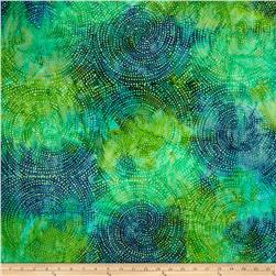 Tonga Batiks 106'' Wide Dotty Spiral Lagoon Fabric