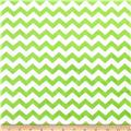 Minky Hytail Chevron Neon Lime