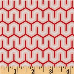 Riley Blake Simply Sweet Zig Zag Red