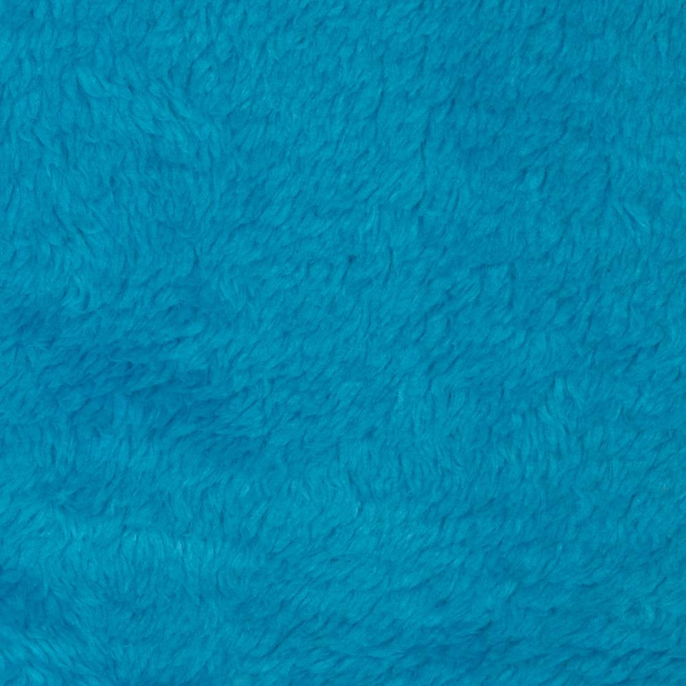 Whisper Coral Fleece Solid Turquoise Fabric By The Yard