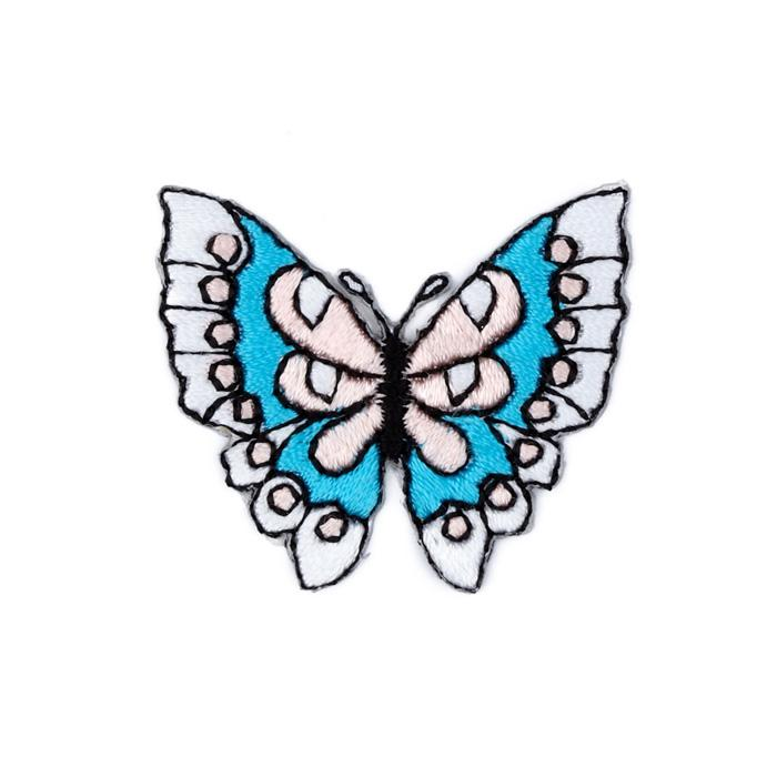 Boutique Applique Butterfly Blue/Pink