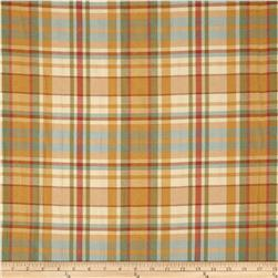 Robert Allen Promo Upholstery Quilted Plaid Squash