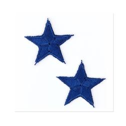 Boutique Applique Stars Blue