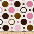 Cuddle Prints Space Balls Pink Brown