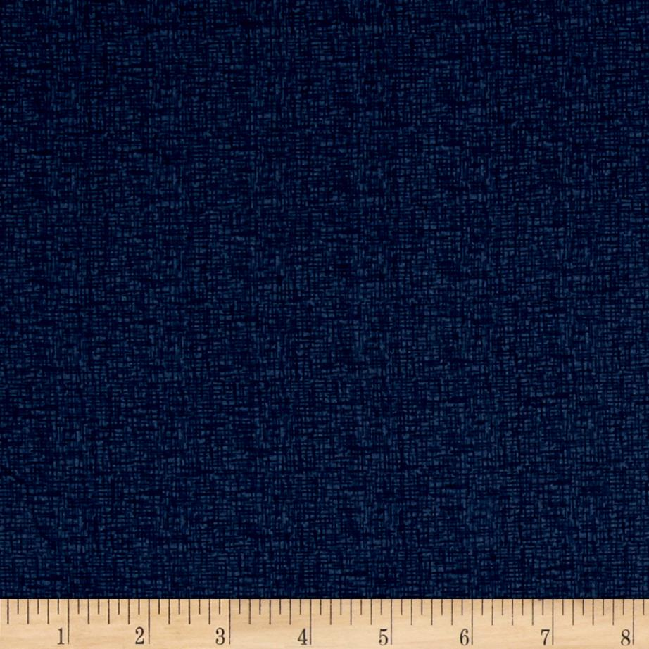 """Basically Wide 108"""" Quilt Back Thatch Navy"""