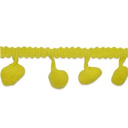 "3/4"" Pom Fringe Trim Yellow"