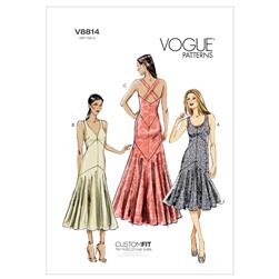 Vogue Misses' Dress Pattern V8814 Size A50