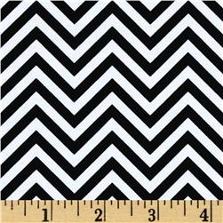 Remix Zig Zags Black Fabric