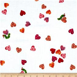 The Very Hungry Caterpillar I Love You Small Hearts Red
