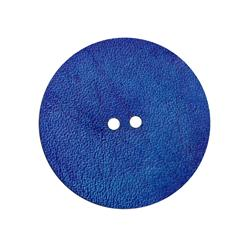 2'' Leather Button Round Blue