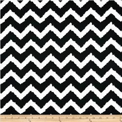 Techno Scuba Knit Chevron Black/White