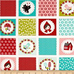 Moda Lil' Red Patchwork Cloud