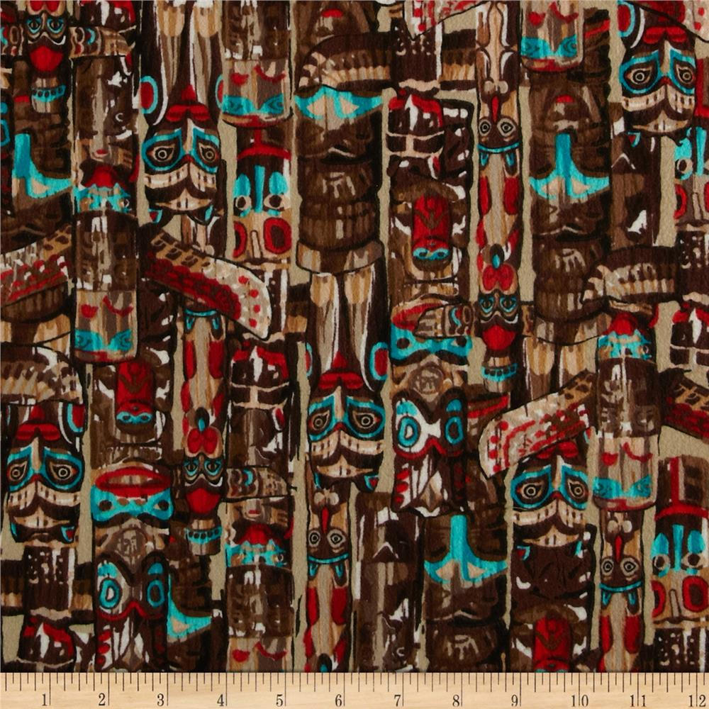 Kanvas Totem Flannel Totem Pole Tan/Multi