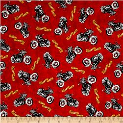 Biker For Life Motorcycle Toss Red