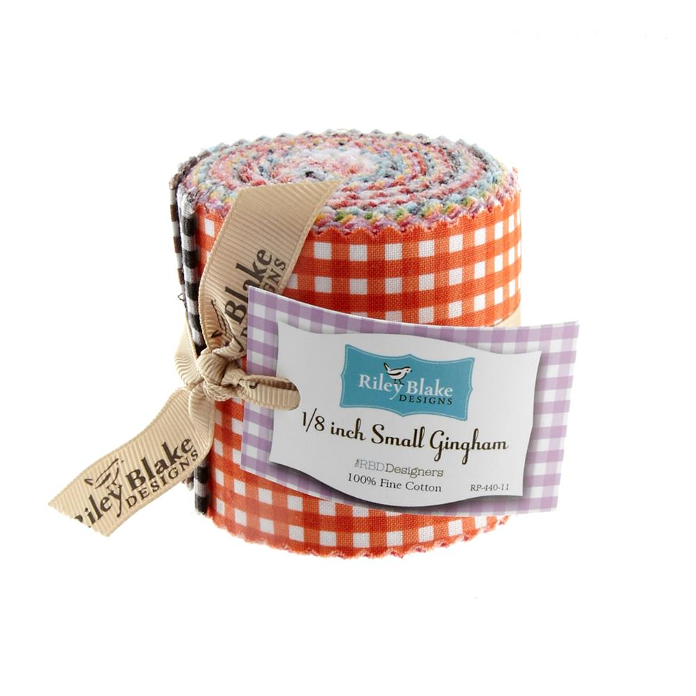 Riley Blake Basics Small Gingham 2 1/2'' Rolie