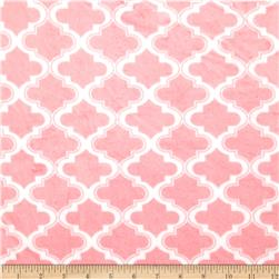 Minky Moroccan Tile Light Pink