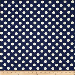 Riley Blake Home Décor Dots Navy Fabric