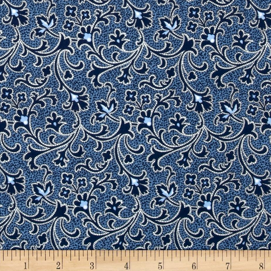 Cozies Flannel Scroll Blue