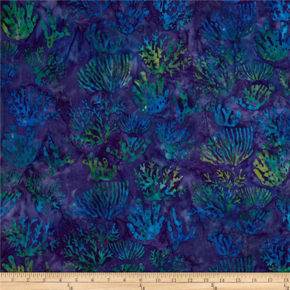 Artisan Batiks: Totally Tropical 2 Seaweed Bermuda Purple